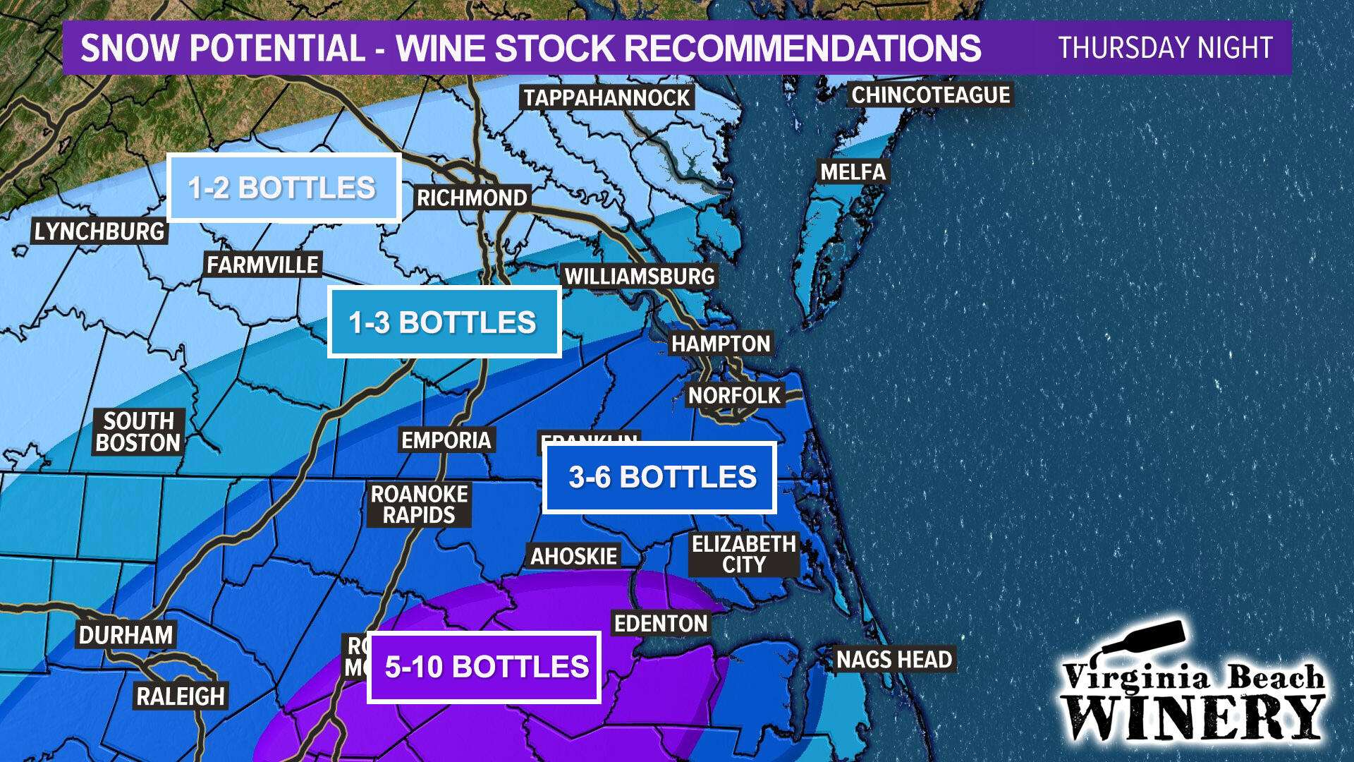 Wine Stock-up Snow Party